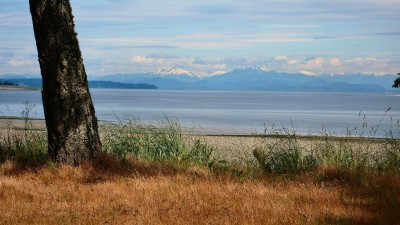 Ocean and mountain views at Driftwood Estates on Vancouver Island